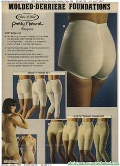 1976 Sears Spring Summer Catalog, Page 198 - Christmas Catalogs & Holiday Wishbooks Classic Lingerie, Christmas Catalogs, Female Bodies, Spring Summer, Ads, Advertising, Holiday, Vintage Girdle, Nice Things
