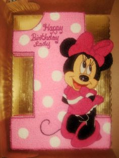 Minnie Mouse - Number one cake with Minnie Mouse