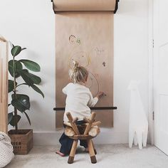 Children's creativity begins with the empty paper roll. # starts with - Baby room decoration - Kids Playroom Ideas Decorar Habitacion, Kids Play Spaces, Play Room Kids, Toddler Play Area, Kids Room Wall Art, Kids Wall Murals, Toddler Boys, Deco Kids, Diy For Kids