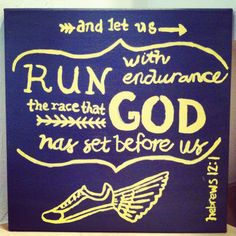 Bible verse canvas for mom! #running