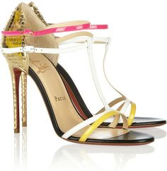 e66e977a85b CHRISTIAN LOUBOUTIN Arnold 100 Patent Leather Sandals - Lyst Summer Heels