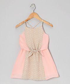 Light Pink Peony Dress - Girls #zulily #zulilyfinds