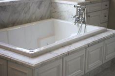 White Carrera Master Bath   www.imptile.com