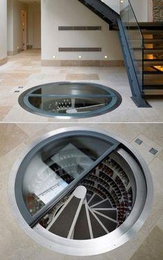 In floor wine cellar . To much money
