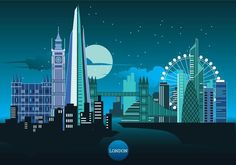 Purchase Abstract London Nightscape Backdrop Cartoon City Buildings Photo Shoot Background Urban Architecture Photography Studio Props Boy Kid from Andrea Marcias on OpenSky. London Illustration, London Landmarks, London Skyline, Urban Architecture, London Art, City Buildings, Art Pictures, Backdrops, Abstract