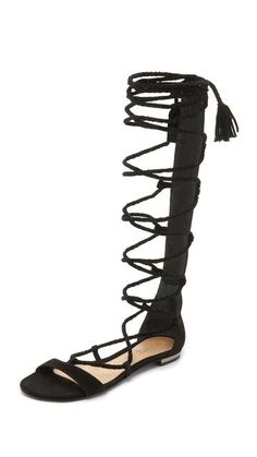 0bb5b421bd5 Gloria Tall Gladiator Sandals by Schutz Black Leather Sandals
