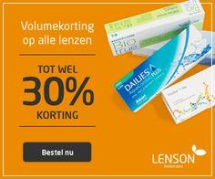 Bij LensOn.nl bestelt u heel eenvoudig dezelfde contactlenzen als bij de opticien maar tegen lagere prijzen. LensOn verkoopt alle soorten contactlenzen (daglenzen, maandlenzen, gekleurde lenzen, torische lenzen, bifocale lenzen en dag-nachtlenzen) van producenten als Bausch & Lomb, Johnson & Johnson, CIBA vision en CooperVision. #Contactlenzen #Lenzen #korting