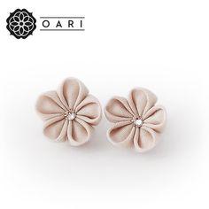Spotlights by Oari Unique Earrings, Stud Earrings, Japanese Textiles, Elegant Flowers, Antique Roses, Spotlights, Swarovski Crystals, Delicate, Hair Accessories