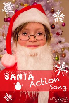 "Don't just craft, SING!  ""I am Santa Claus"" a jolly Christmas action song for kids from My Little 3 and Me"