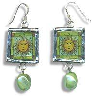 Sheryl Johnson's Stained Glass PolyShrink Earrings - tutorial