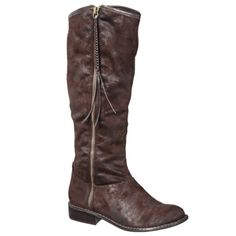 Women's Mossimo Supply Co. Kirima Tall Boot with Tassel - Brown