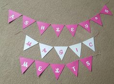 Paper bunting for craft fayres. Each flag is approx 12cm wide and cost 55p each. Other colours and fonts available.  When ordering please select the…