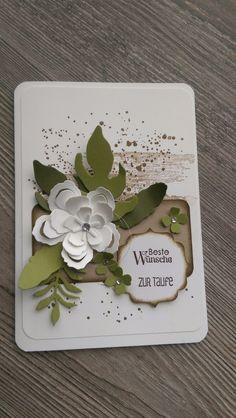 Glückwunschkarten - Karte Taufe, Geburtstag, Hochzeit, Gutschein, Neu - ein Designerstück von Mein-Kreativpoint bei DaWanda