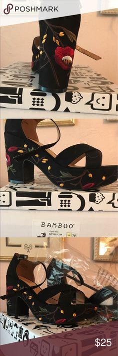 Shoes Gorgeous boho platform sandals. Never worn. Original box and wrapping. Bought online, non returnable, bought a 71/2 but they run big, fit more like a size 8. bamboo Shoes Platforms