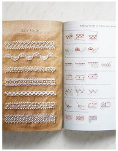 Bead Embroidery Patterns, Embroidery Sampler, Hand Embroidery Stitches, Silk Ribbon Embroidery, Hand Embroidery Designs, Vintage Embroidery, Embroidery Techniques, Sewing Techniques, Cross Stitch Embroidery