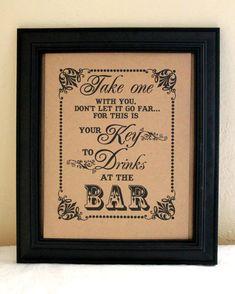 Wedding Mason Jar Drinking Glasses | Wedding Sign- Bar Sign -Cup Favors Sign - Mason Jar Favor - Drinking ...