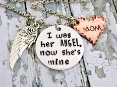 Angel Mom* Memorial Jewelry* Memorial Keepsake* Loss Of Mom* Loss Of Mother* Angel Wings* Guardian Angel* Memorial Gift* Sympathy Jewelry* - pinned by pin4etsy.com