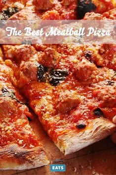 Excellent Italian-American meatball pizza starts with the best meatballs—the rest is pretty easy. Meatball Pizza Recipes, Healthy Pizza Recipes, Healthy Recipes On A Budget, Low Carb Dinner Recipes, Vegetarian Recipes Dinner, Appetizer Recipes, Cheap Meals, Easy Meals, Easy Keto Meal Plan