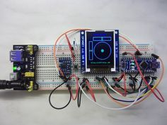 Digitale Wasserwaage: ADXL345, TFT (HY-1.8 SPI) und ein Arduino