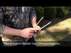In this video I show how to make a deadfall trap in order to catch small animals. It goes along with my post Survival Food Part 5:Birds and Other Animals that talks about traps, hunting, and baiting animals in a survival situation. http://72hrbugoutbag.com/survival-food-part-5-birds-and-other-animals/