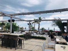 Olla Beach | Beachclub Spain | Houtenplaten.be Patio Dining, Patio Table, Patio Gazebo, Pergola, Blue Patio, Patio Flooring, Shade Structure, Dining Furniture, Spain