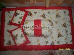 RM 120    Set tilam kekabu baby saiz XS, S, M dan L (Baby cot) dengan 2 pillow dan 2 bolster. Menggunakan kain 100% cotton IKEA dan cotton berkualiti tinggi. Pilihan ccorak boleh dibuat. Boleh ditempah dengan menghubungi Habina-013-324 3405.