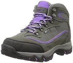 Hi-Tec Women's Skamania Mid WP Hiking Boot, Grey/Viola,7.5 M US >>> Click image for more details.
