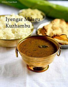 Iyengar,Brahmin style Pepper gravy for rice - Tastes yum ! Garlic Recipes, Curry Recipes, Vegetarian Recipes, Cooking Recipes, Healthy Recipes, Vegetarian Gravy, Healthy Food, Vegetarian Curry, Kitchen Recipes