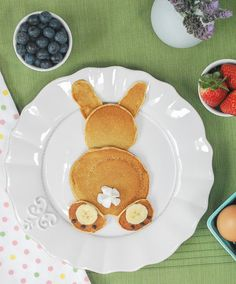 Bunny pancakes!  Perfect for Easter breakfast or anytime!