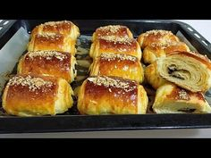 - YouTube Croissants, Le Croissant, Arabian Food, Puff Pastry Recipes, Cooking Chef, Bread And Pastries, Flan, Bread Baking, Biscotti