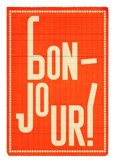 Bonjour - by edubarba collages & prints (Etsy)
