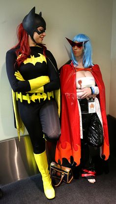 Batgirl from DC Comics, with Kamina (カミナ) from the anime Gurren Lagann (天元突破グレンラガン)