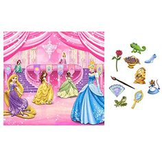 this is huge! -> Disney Very Important Princess Dream Party Photo Backdrop and Props Kit Princess Party Games, Disney Princess Party, Princess Birthday, Cinderella Birthday, Disney Birthday, Party Wall Decorations, Princess Party Decorations, Disney Decorations, Dream Party