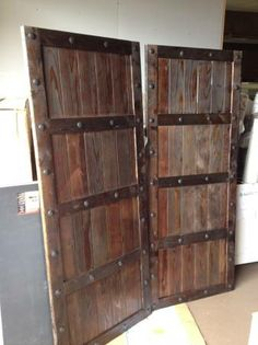 barndoors made from pallets