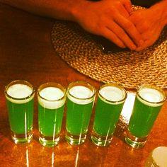 Liquid Marijuana Shots  1 part Captain Morgan 1 part Malibu 1 part Midori 1 part Blue Curacao Splash Sweet & Sour Splash Pi...