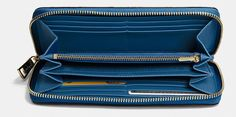 Accordion Zip Wallet in Logo Embossed Leather