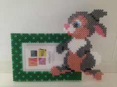 Bunny photo frame hama beads by Les-petites-creas-de-laura