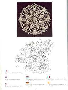 Creations Crochet D& - Malinka-Malinka Filet Crochet, Crochet Diagram, Irish Crochet, Crochet Stars, Crochet Snowflakes, Thread Crochet, Crochet Tablecloth, Crochet Doilies, Crochet Flowers