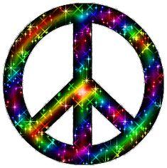 Glitter peace sign wallpaper