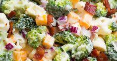 Salade de brocoli, chou-fleur et... Bacon, arrosée d'une savoureuse vinaigrette au yogourt grec! - Ma Fourchette