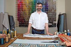Quando il ricamo incontra l'Interior Design, bellissimo post del designer Michael Savoia #embroidery #interiordesign