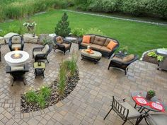 These custom paver designs bring pizzaz to patios, driveways and yards.