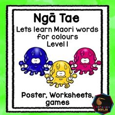 Learn colours in Maori. An activity for NZ classes.This pack features - A colour poster that introduces colours (monster themed)- 4 worksheets- a match up activity where a child matches an object to a word- Bingo gameSuitable for immersion or mainstream classesclick here for my maori prepositions resourceFor more NZ resources  click here