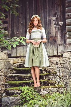 "Lena Hoschek Tradition S/S15 ""Dirndl #lovely_dirndl #fashion #model #female #women #girl #alpine #peasant  #skirt #close-fitting #bodice #austria #bavaria #bavarian #photography"