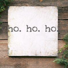 Christmas Signs Farmhouse Christmas Decoration Ho Ho Ho
