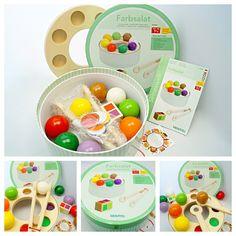 --- Farbsalat --- Die bunte Farbenwelt spielerisch kennenlernen?  Zur pädagogischen Beurteilung des Lern- und Sortierspiels: http://kitango.de/farbsalat-spielend-farben-lernen-kitango/#more-4120