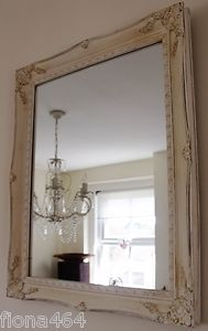 painted old mirrors | Gorgeous-vintage-style-white-cream-French-country-painted-mirror ...