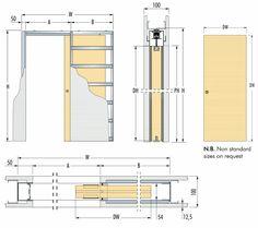 Commercial Single Pocket Doors | ... Pocket Door System Frame