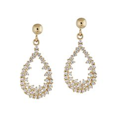 Cercei Aur 14k CZ SABRINI Tahiti, Drop Earrings, Jewelry, Diamond, Bead, Jewlery, Jewerly, Schmuck, Drop Earring