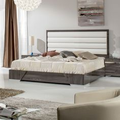 Marley Upholstered Panel Bed